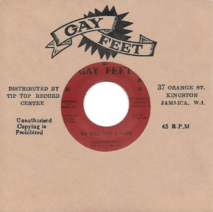 Carlton Manning - We Will Live & Love / Soul Lads - I Am Yours Forever (Gay Feet / Dub Store) 7""